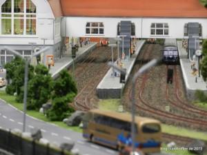 Bahnhof Aumühle mit S-Bahn Betrieb wie beim Vorbild.