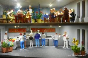 Unten wird gekocht, oben tagt die Lecker-Lecker-Fraktion.
