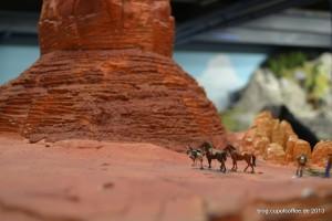 Pferde auf dem Plateau.