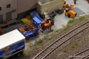 Pferdefuhrwerk in der Schweiz.