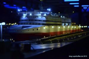 """Mit einer Länge von 2005 mm ist die """"Superfast"""" das zweitgrößte Schiff im Miniatur Wunderland."""