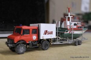 Boddenboot ZANDER auf Übungsfahrt im Miniatur Wunderland