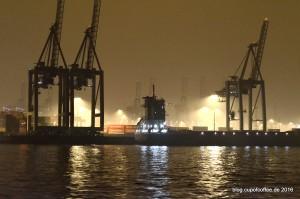 Nebel über dem Terminal