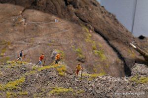Wanderer am Vesuv.