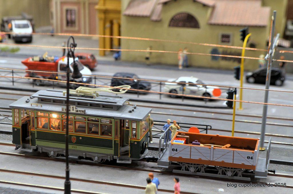 Oldtimer Tram an der Porta Maggiore - Miniatur Wunderland Oktober 2016
