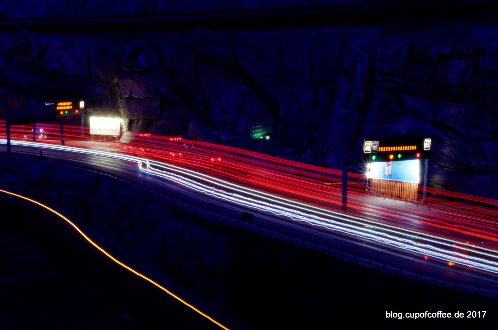 night on the highway