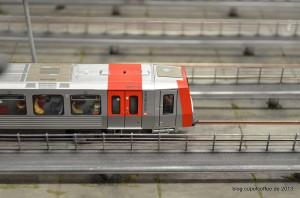 Der neue DT5 der Hochbahn en miniature.