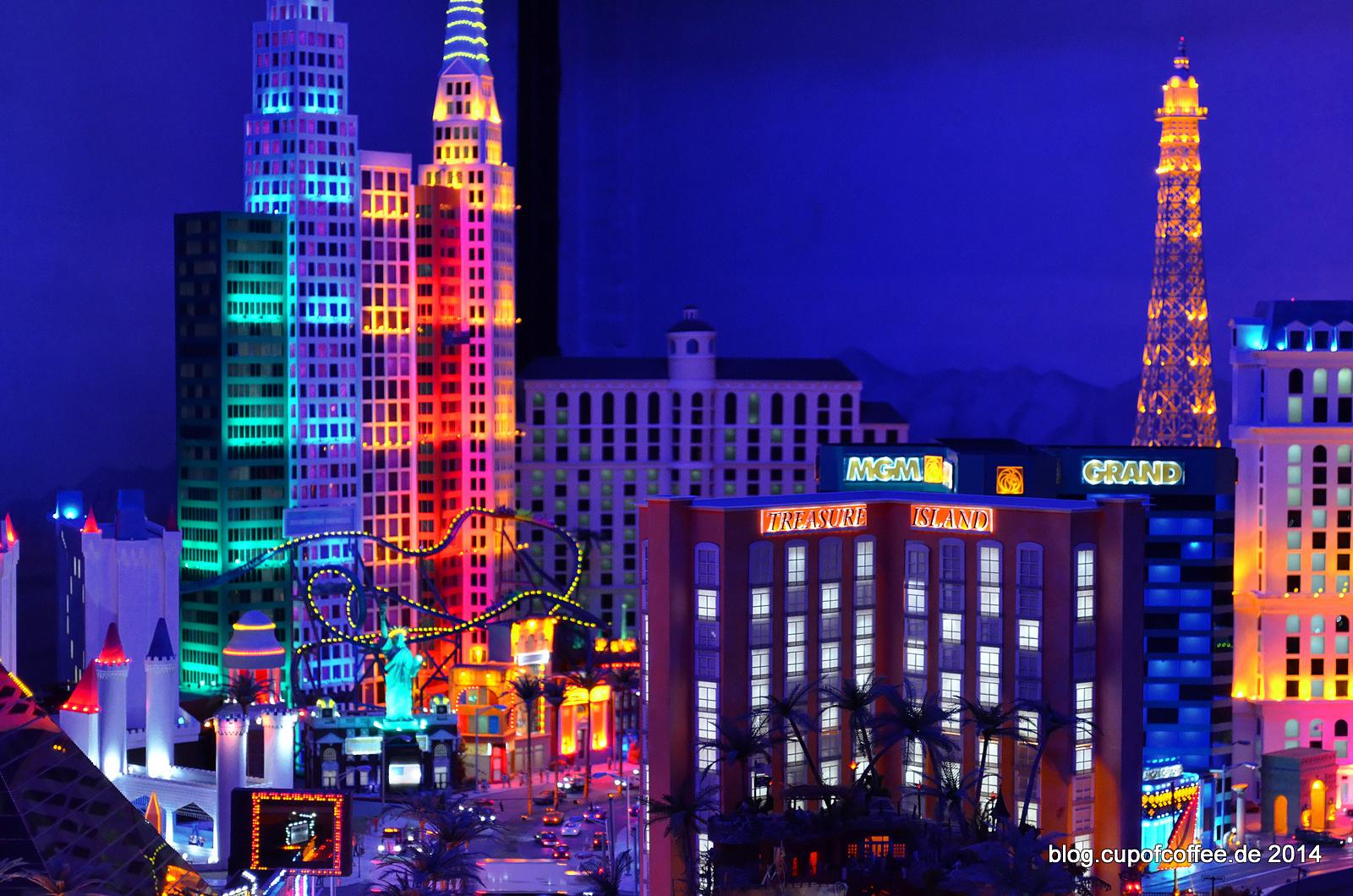 Immer ein Hingucker: Las Vegas bei Nacht.