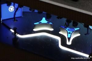 Wundervoll gestaltet und beleuchtet: das Miniaturstudio der ADR Tagesschau