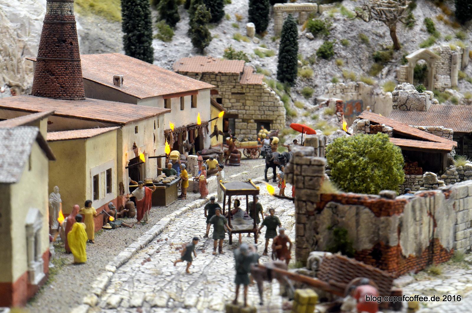 Straßenszene in Pompeji